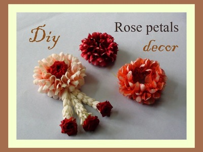 Do it yourself Rose petals decor