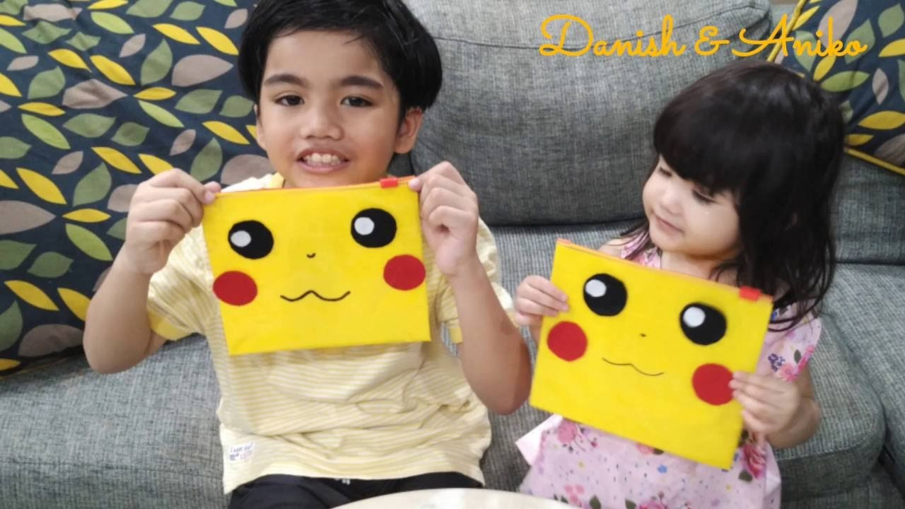 EASY PIKACHU Pencil Case Craft HOW TO | Back to School for Kids Easy Crafts | Kids Fun Play