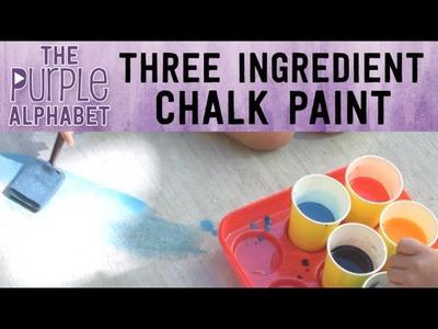 EASY Sidewalk Chalk Paint DIY