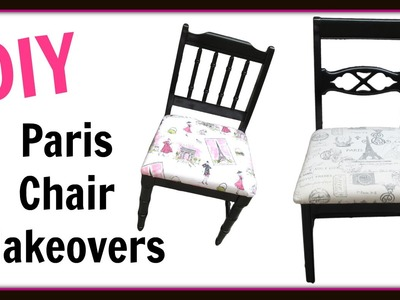 Garbage to Gorgeous Episode #15:  Paris Chairs - Furniture Makeover - DIY Project - Craft Klatch