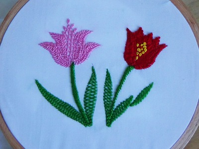 Hand Embroidery: Cretan stitch
