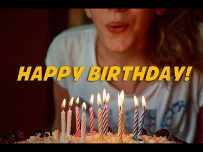 Happy Birthday to you (instrumental - lyrics video for karaoke)