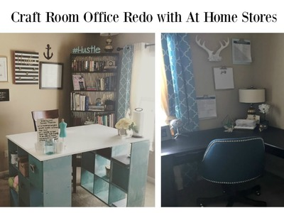Home Office Craft Room Makeover with #AtHomeStores #ad
