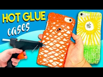 Hot GLUE CASES * DIY home made CELL PHONE case with SILICON