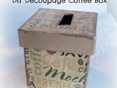 How to Decoupage Napkin on Paper Mache Craft Box