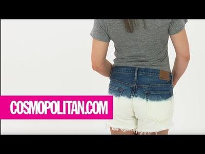 How to Dip-Dye Shorts with Bleach | Cosmopolitan