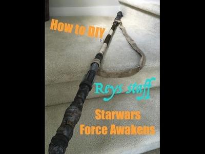 How to DIY Reys Staff - Force Awakens Cosplay, Easy Starwars costume.