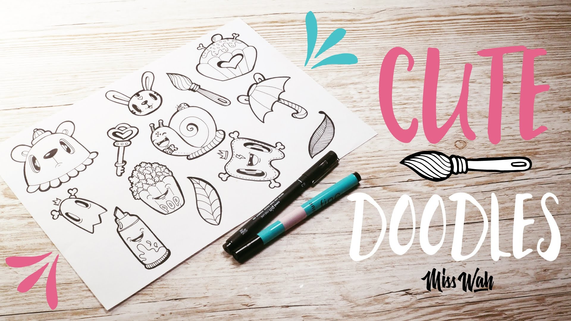 How To Doodle Cute.Kawaii Characters - Miss Wah