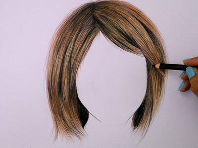 How to draw hair using colored pencils