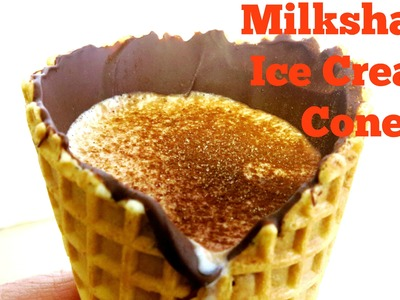HOW TO MAKE A CHOCOLATE ICE CREAM CONE MILKSHAKE DIY EASY RECIPES FOR KIDS TO MAKE AT HOME