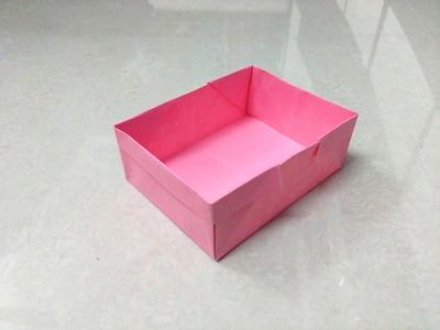 How to make an origami paper box - 5 | Origami. Paper Folding Craft, Videos and Tutorials.