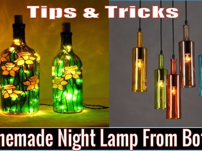 How to Make Night lamp from Wine Bottle | Amazing Craft with Wine Bottle that You never seen Before