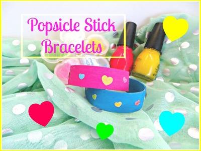 How to make popsicle stick.craft sticks.tongue depressors Bracelets