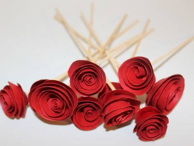 How to make ROSE using Paper - Simple DIY