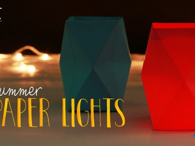 How to make : Summer Paper Lights | Paper Craft