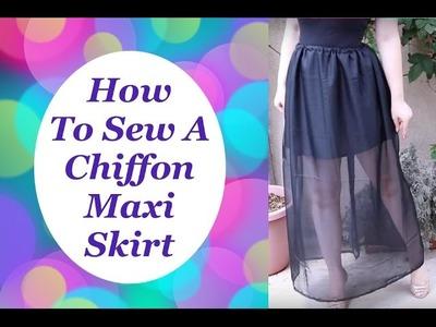 How to Sew a Chiffon Maxi Skirt The Rachel Dixon Tutorial