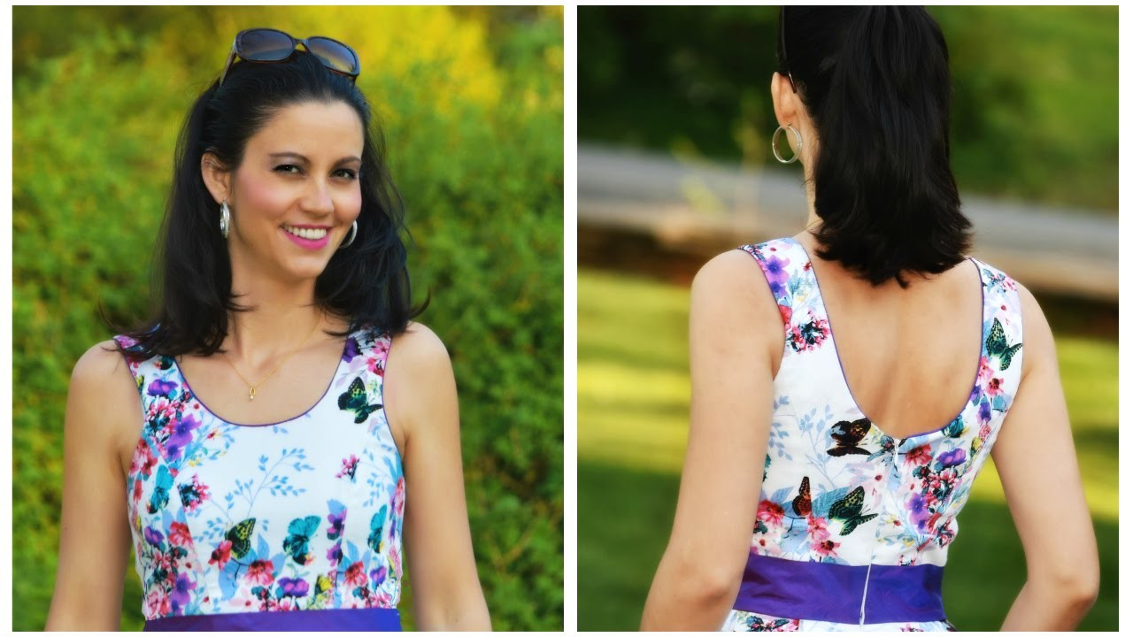 How to sew a Neckline with piping