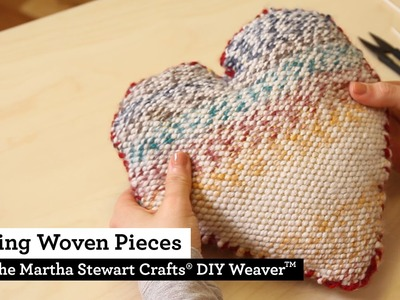 How to Sew Woven Pieces made with the Martha Stewart Crafts® DIY Weaver(TM)
