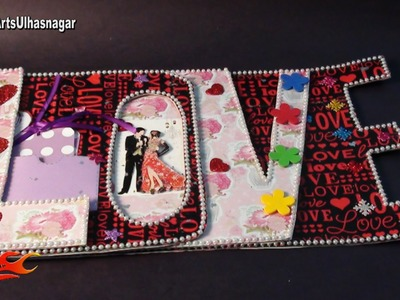 LOVE words chipboard album Idea | Tutorial link in description | JK Craft Ideas 097