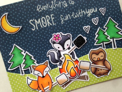 Love You Smore Card Process Video Not2Shabby (Lawn Fawn)