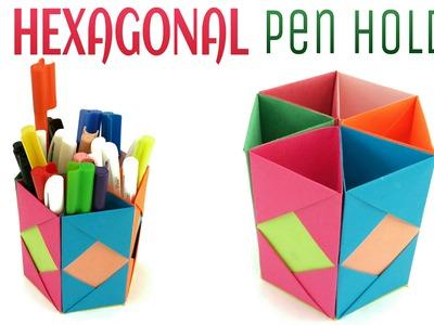 "Origami. Craft tutorial to make ""Hexagonal Pen | Pencil Holder"" | DIY | Handmade |"