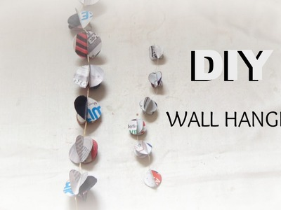 PAPER CRAFT: How To Make Paper Garland- wall hanging easy & simple DIY In 5min