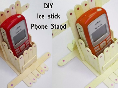 Phone stand with Ice Sticks. Popsicle || DIY Craft