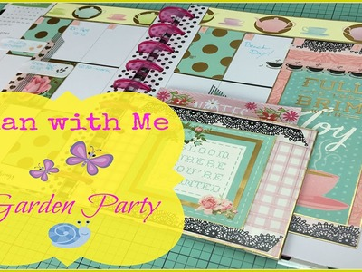 Plan With Me: Happy Planner August 1-7, Craft Smith Garden Party - Tea Theme