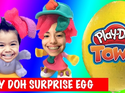 PLAY DOH TOWN Giant Surprise Play Doh EGG and Play Doh Town Pet Store