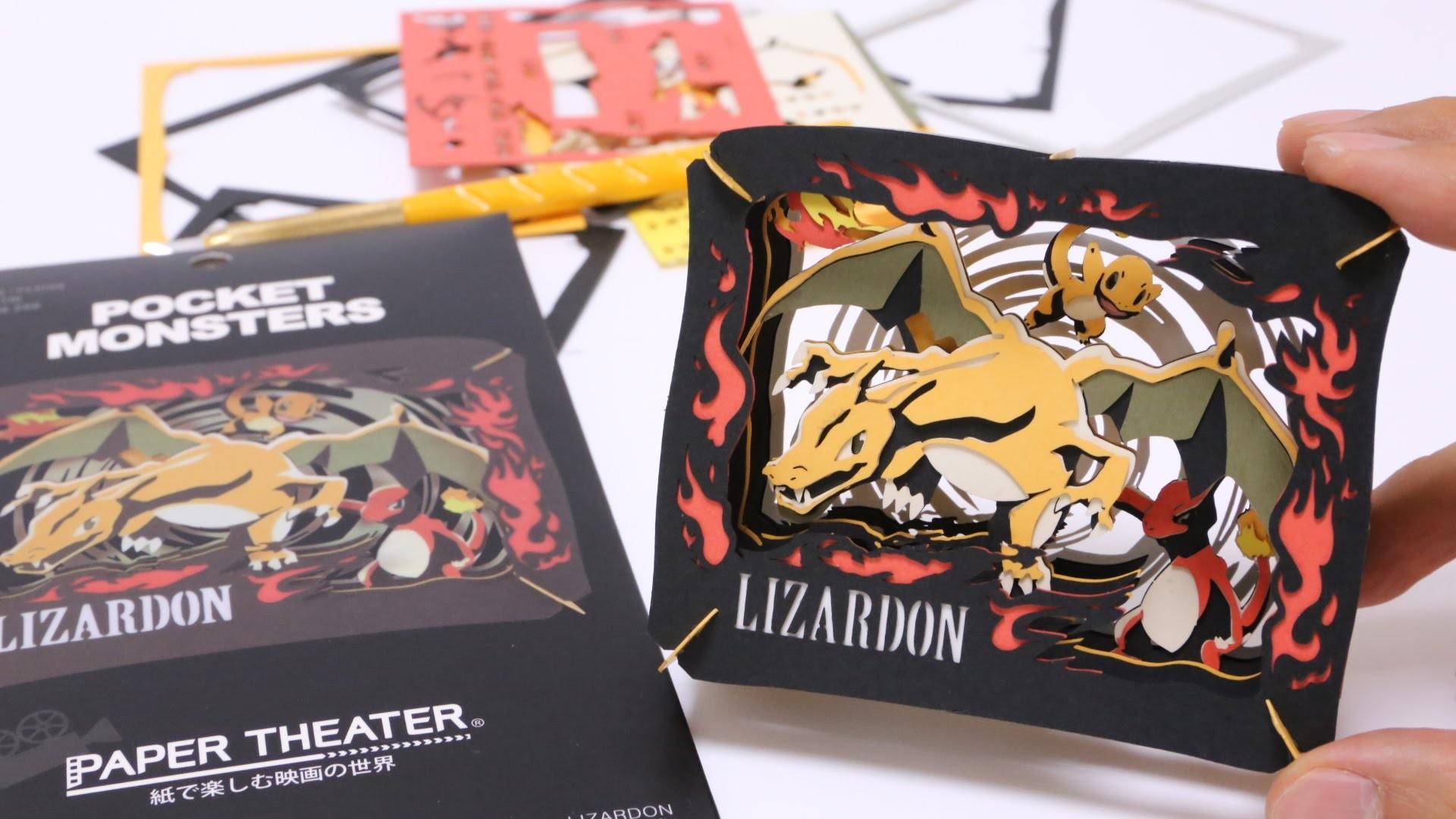 Pokemon DIY Paper Craft Lizardon Paper Theater
