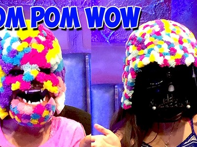 Pom Pom Wow Challenge | Chewbacca Mask Craft with Darth Vader | KidToyTesters