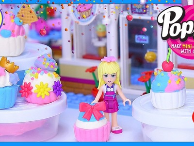 Poppit DIY Mini Cupcakes - Craft with Lego Friends Stephanie Review Create Silly Play - Kids Toys