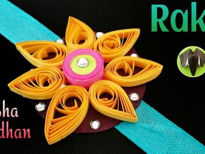 "Quilling Tutorial to make ""Flower Rakhi Bracelet for Raksha Bandhan""   Handmade  DIY   Design 4"