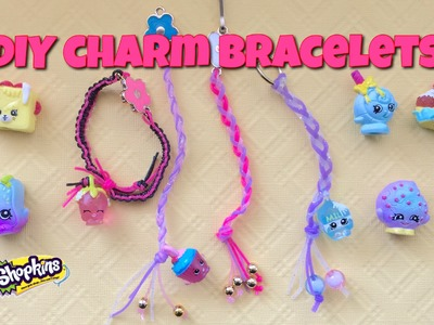 Shopkins season five charms with strand bands craft tutorial