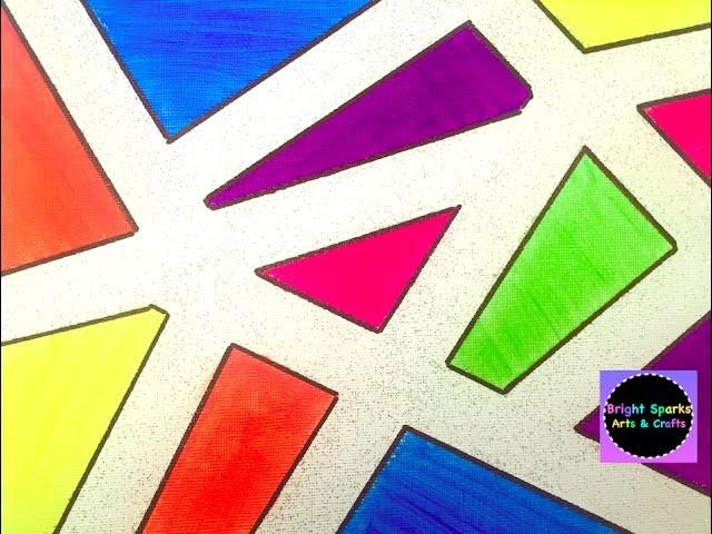 Sticky Tape Art * Masking Tape * How to Make * Art Craft Fun