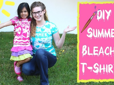 Summer Crafts - Bleached T-Shirts are an Easy DIY Summer Craft for Kids