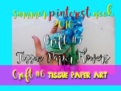 Tissue Paper Flowers (a fun Pinterest Craft) - @dramaticparrot