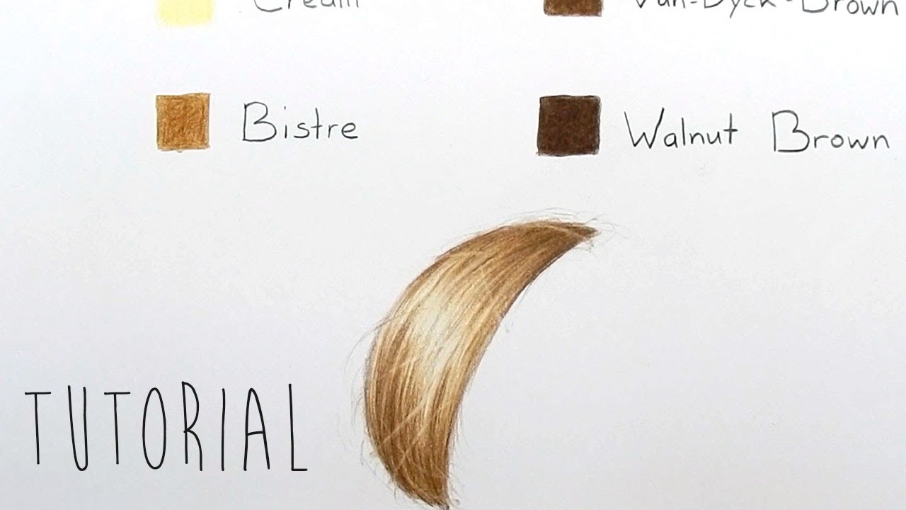 Tutorial How To Draw Realistic Blonde Hair With Colored