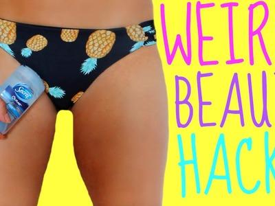 Weird Beauty Hacks Every Girl should KNOW!!