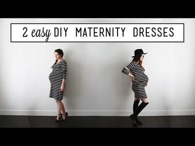 2 Easy DIY Maternity Dresses