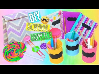 6 DIY Back To School Supplies Cute & Colorful | Tumblr Inspired