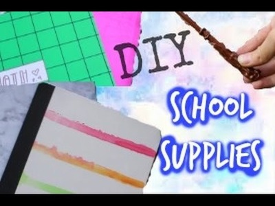 Back To School DIY School Supplies! Notebooks, Folders, and Pencils!!