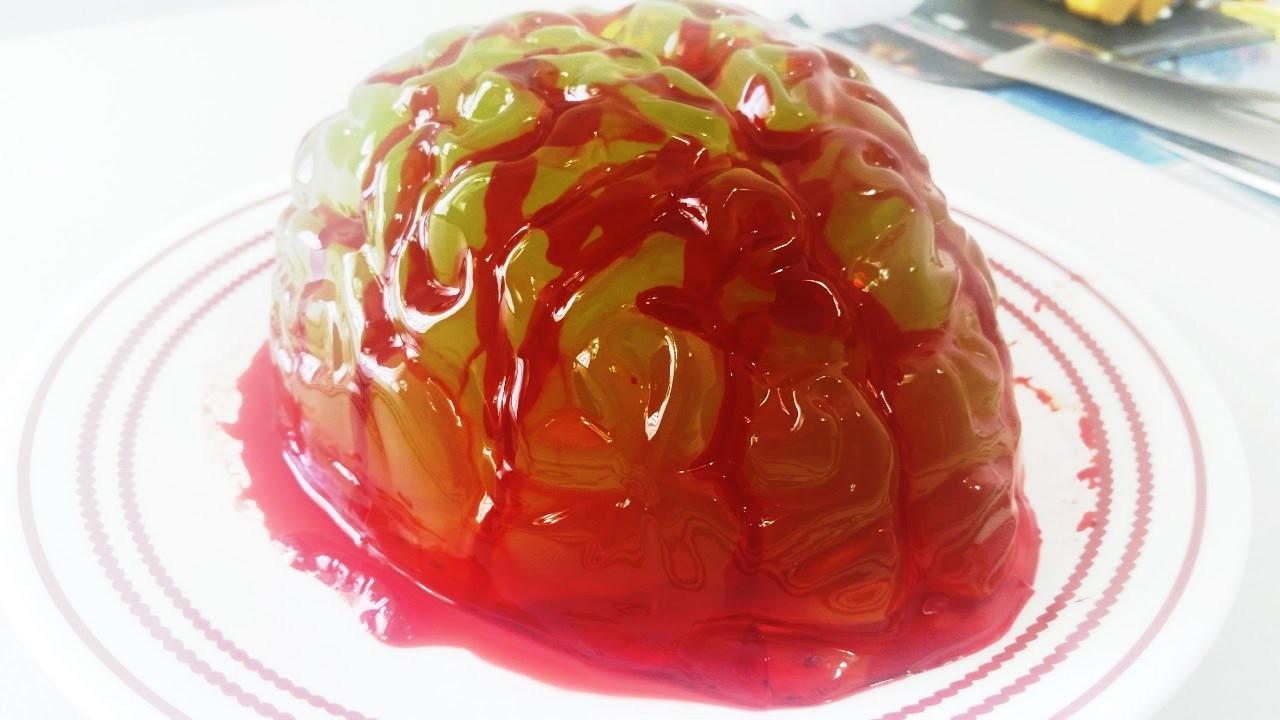 Brain Jelly Gummy Mold diy How To Recipe kitchen Halloween
