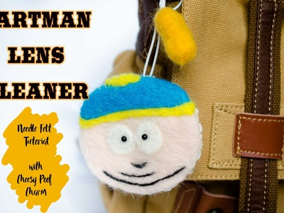 Cartman South Park Needle Felted Lens Cleaner DIY Tutorial | by Kawaii Felting