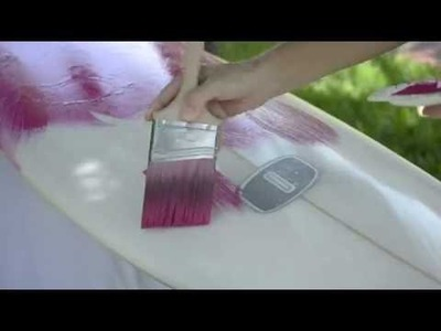 Customize Your Surfboard: DIY Alcohol Technique with Paint Brushes and Spray Paint