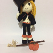 Cute Witch Wendy Amigurumi  for Halloween - PDF PATTERN