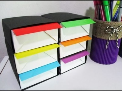 DIY : #140 ORIGAMI Organizer for Small Stationeries ♥