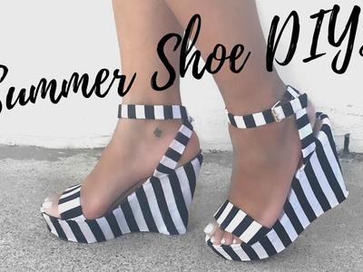 DIY: 3 SUMMER SHOE MAKEOVERS || DIY Summer Style Week