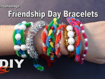 DIY 8 Friendship Belt. Bracelet with Pipe Cleaners  | How to make Wrist Belt | JK Arts 1029