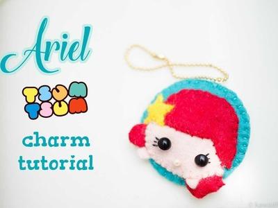 DIY Ariel Tsum Tsum Charm | the Little Mermaid | Kawaii Felting